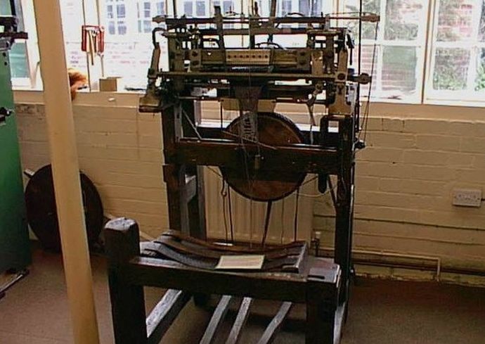 old machine for the production of stockings